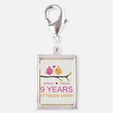 9th Wedding Anniversary Pers Silver Portrait Charm