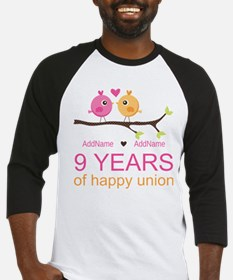 9th Wedding Anniversary Personaliz Baseball Jersey