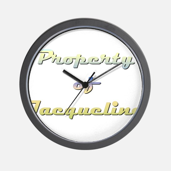 Property Of Jacqueline Female Wall Clock