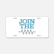 Join The Resistance Aluminum License Plate