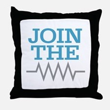 Join The Resistance Throw Pillow