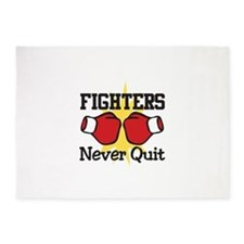 Fighters Never Quit 5'x7'Area Rug