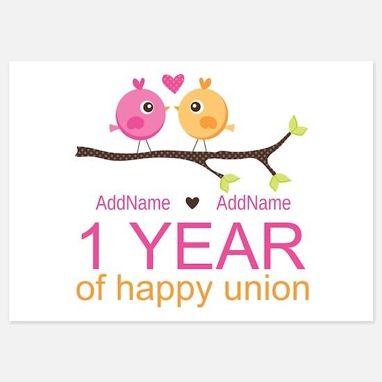 1st Anniversary Personalized Invitations
