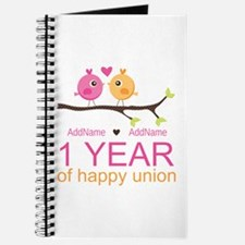 1st Anniversary Personalized Journal