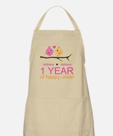 1st Anniversary Personalized Apron