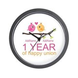1st wedding anniversary Basic Clocks