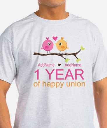 1st Anniversary Personalized T-Shirt