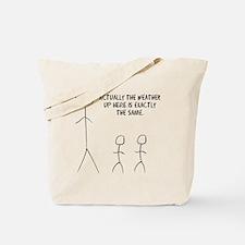 tall stick man Tote Bag