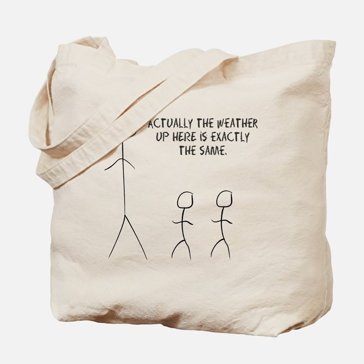 tall stick man Tote Bag