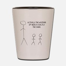 tall stick man Shot Glass