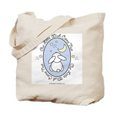 Our Little Wish Come True Bunny Baby Boy Tote Bag
