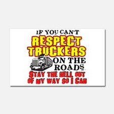 Respect Truckers Car Magnet 20 x 12