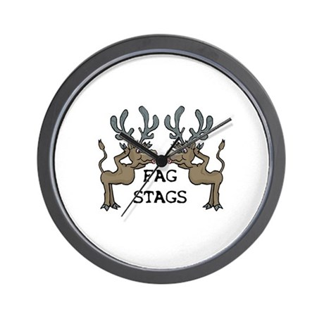 Fag Stags Wall Clock
