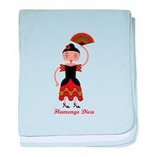 Flamengo dancer baby blanket
