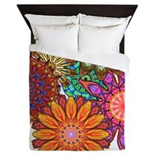 Unique Rainbow and butterflies Queen Duvet