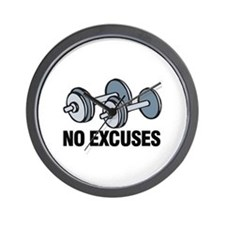 No Excuses Wall Clock