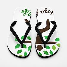 Yoga For Life Warrior Pose Tree Flip Flops