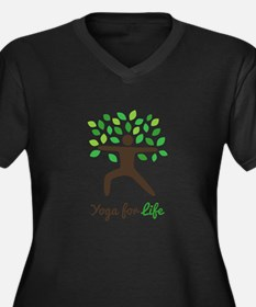 Yoga For Life Warrior Pose Tree Plus Size T-Shirt