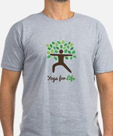 Yoga For Life Warrior Pose Tree T-Shirt