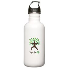 Yoga For Life Warrior Pose Tree Water Bottle