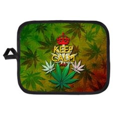 Keep Calm and Marijuana Leaf Potholder
