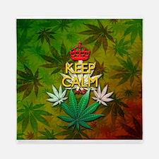 Keep Calm and Marijuana Leaf Queen Duvet