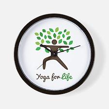 Yoga For Life Warrior Pose Tree Wall Clock