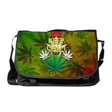 Keep Calm and Marijuana Leaf Messenger Bag