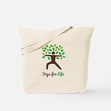 Yoga For Life Warrior Pose Tree Tote Bag