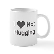 I Heart Not Hugging in bleak gray Mugs