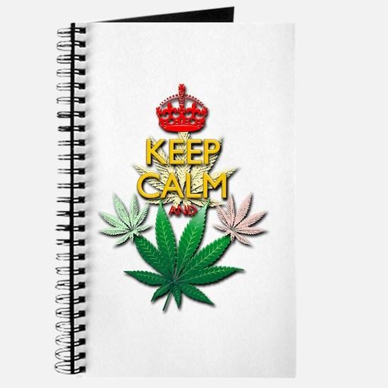 Keep Calm and Marijuana Leaf Journal