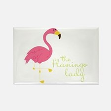 The Flamingo Lady Magnets