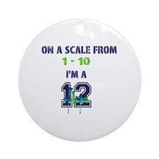 Seahawks Round Ornament