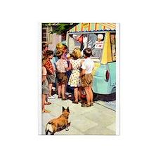 Ice Cream Truck, Vintage Poster 5'x7'area Rug