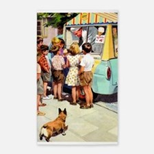 Ice Cream Truck, Vintage Poster 3'x5' Area Rug