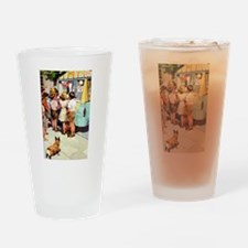 Ice Cream Truck, Vintage Poster Drinking Glass