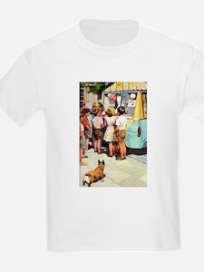 Ice Cream Truck, Vintage Poster T-Shirt