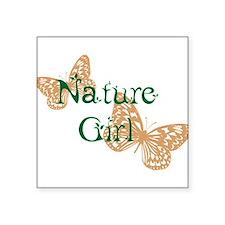 Nature Girl Butterflies Sticker
