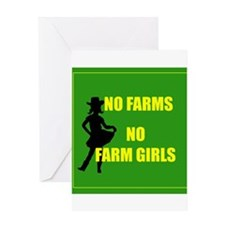 NO farms no farm girls funny woman Greeting Cards