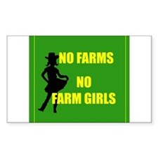 NO farms no farm girls funny woman Decal