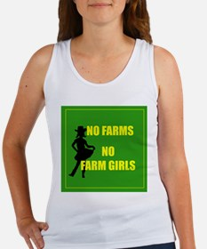 NO farms no farm girls funny woman Tank Top