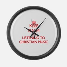Cool Christian radio Large Wall Clock