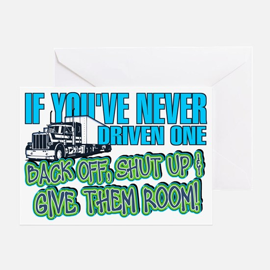 Trucker Back Off Greeting Card