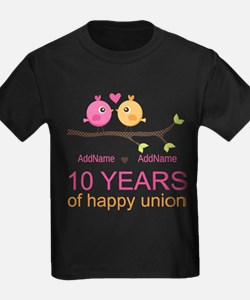 10th Anniversary Personalized T