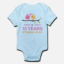 10th Anniversary Personalized Infant Bodysuit