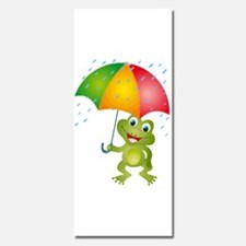 Froggy with Rain Umbrella Invitations