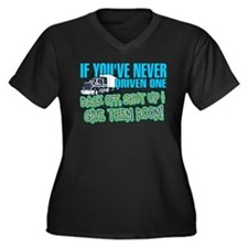 Trucker Bac Women's Plus Size V-Neck Dark T-Shirt