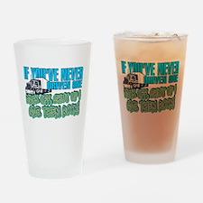 Trucker Back Off Drinking Glass