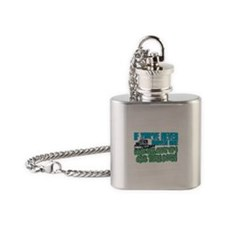 Trucker Back Off Flask Necklace
