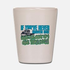 Trucker Back Off Shot Glass